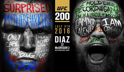 CONOR McGREGOR VS NATE DIAZ UFC 202 MMA Poster HD Print Home Wall Decor
