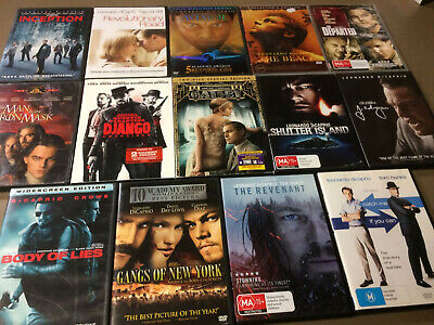 Leonardo DiCaprio DVD Bulk Lot Collection: THE REVENANT Man In The Iron Mask etc