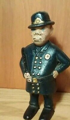 Antique A.C. Williams Cast Iron Mulligan Bank Vintage Policeman Early 1900's
