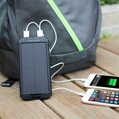 300000mah Dual-USB Waterproof Solar Power Bank Battery Charger for Cell Phone YK