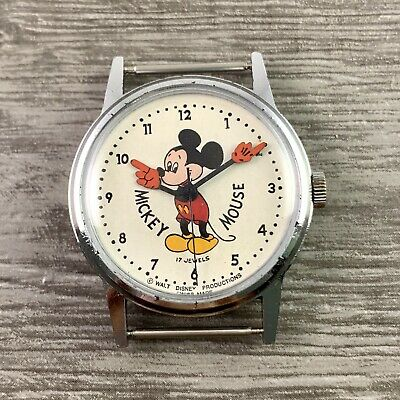 Rare Vintage Buzz Aldrin's Mechanical 1960's Mickey Mouse Voumard Watch Running