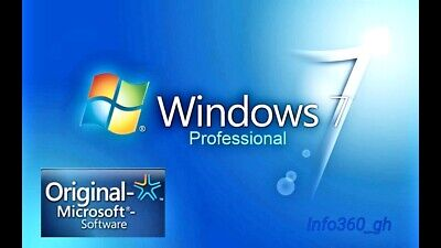 Windows 7 Pro Professional KEY/CLAVE-LICENCIA 100% ORIGINAL 32/64 Multilenguaje