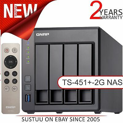 QNAP 4 Bay Desktop NAS with 2GB RAM│Storage Device with 12TB WD RED Hard Drives