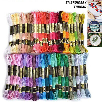 Art Sewing Skeins Floss Cotton Embroidery Thread Cross Stitch Multi-Color