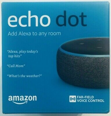 Lot of 4 - New Amazon Echo Dot 3rd Gen Alexa 2 of Charcoal & 2 of Sandstorm