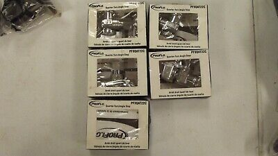 "LOT OF 5...ProFlo 3/8"" x 3/8"" Quarter Turn Angle Stop Valve PFXQAT22C"