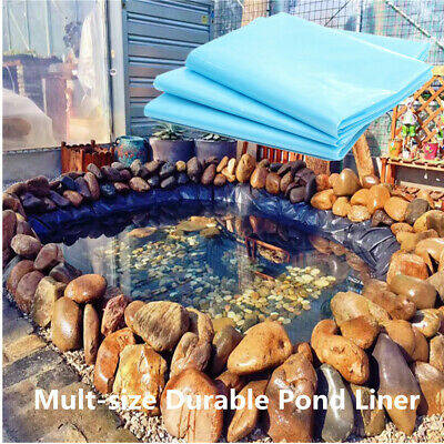 Blue HDPE Heavy Duty Pond Fish Pool Liner Gardens Ponds in Various Sizes