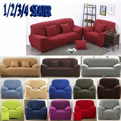 1/2/3/4 Seats Super Stretch Sofa Slip Covers Couch Cover Lounge Covers Sofa Case