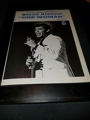 Steve Alaimo One Woman Rare Original Promo Poster Ad Framed!