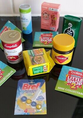 CHEAP Coles Little Shop Mini2 Collectables YOU CHOOSE Col,Gift,Sauce,Coffee+MORE