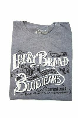 Lucky Brand Los Angeles Boys Short Sleeve T-Shirt, Steel Gray Heather, S 7/8