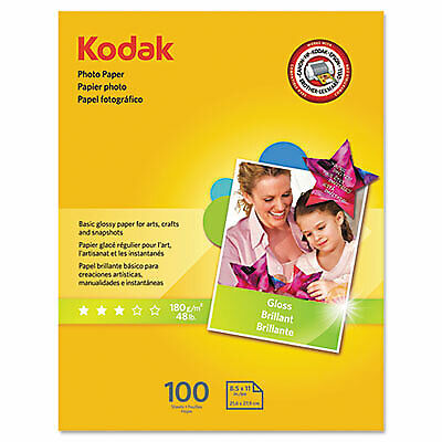 Photo Paper, 6.5 mil, 8.5 x 11, Glossy White, 100/Pack 8209017  - 1 Each