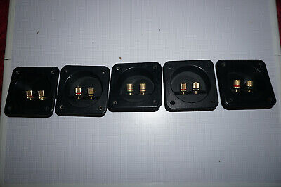 5x Speaker Terminals Jack Bare Wire - Good used condition