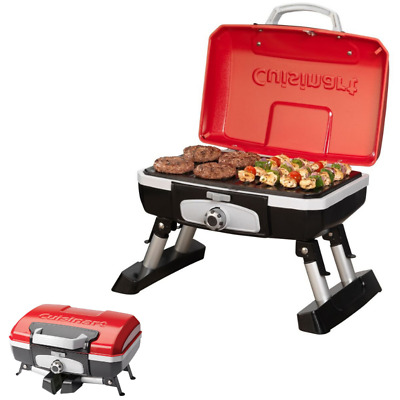 Grill For Boat Pontoon RV Camping Patio Campfire BBQ Barbecue Small Gas Portable