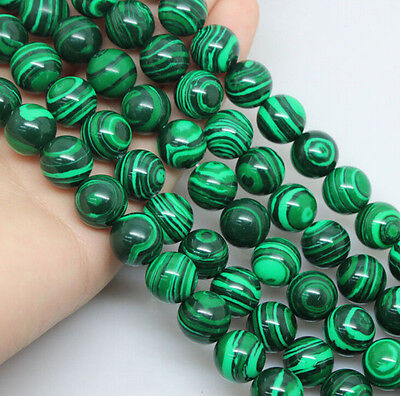 Natural Malachite Gemstone Stone Loose Spacer Beads Jewelry Finding 4/6/8/10MM