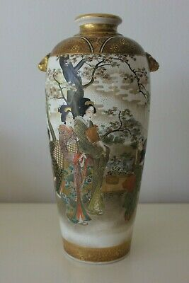 Stunning Antique Meiji Japanese Satsuma Vase - Signed