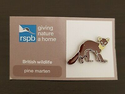 "Brand New ""VERY RARE RSPB PINE MARTEN"" Pin Badge (SAME DAY DISPATCH !) FREE POST"