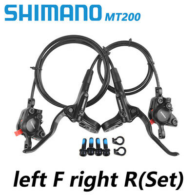 Shimano MT200 MTB Hydraulic Disc Brakes Left Front&Right Rear Set Pre-Filled
