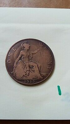 King George V One Penny Coin 1915