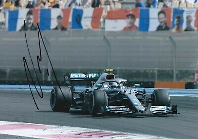 Valtteri Bottas Authentic Signed New 2019 F1 12X8 Photo Aftal#198