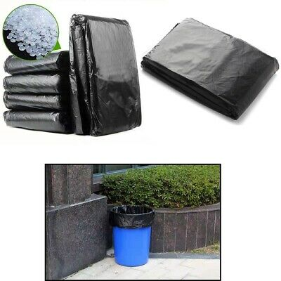 50pcs Extra Strong Heavy Duty Black Bin Liners Rubbish Bags Waste Refuse Sacks