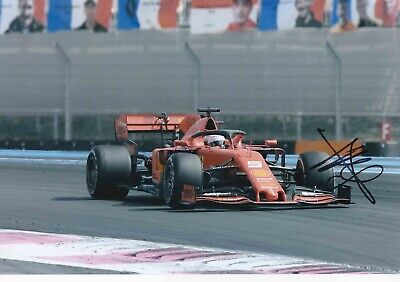 Sebastian Vettel Authentic Signed New 2019 F1 12X8 Photo Aftal#198