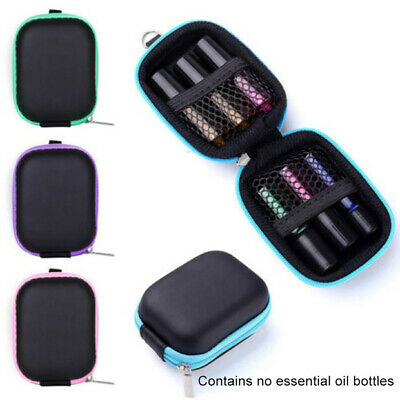 Essential Oil Case Bag Travel Shockproof 6 Bottles Carrying Aromatherapy Roller