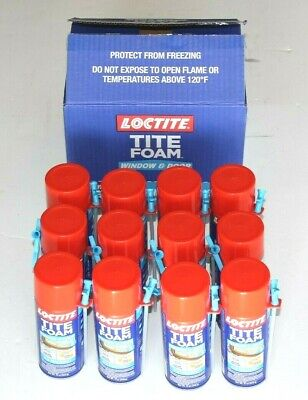 NEW!! LOCTITE 12 fl.oz. Tite Foam Window and Door Insulating Spray Foam  12 CANS