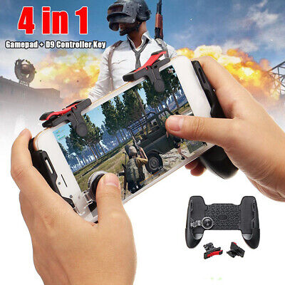 HOT 4In1 Mobile Game Gamepad Joystick Controller Trigger Shooter Key For PUBG MC
