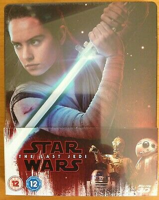 STAR WARS: THE LAST JEDI (3D) STEELBOOK. *NEW/SEALED* Blu-ray