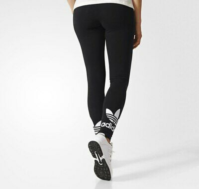 Girls Adidas Originals Trefoil Leggings Black Age 7-14   Bnwt  Reduced Today!