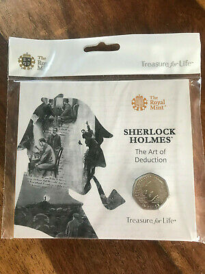 ROYAL MINT SEALED 2019 SHERLOCK HOLMES 50p COIN BRILLIANT UNCIRCULATED