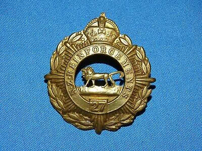 WWI-WWII New Zealand Cap Hat Badge, 27th NZ REINFORCEMENTS (219)