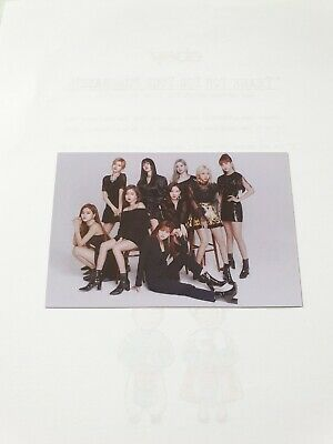 TWICE WORLD TOUR 2019 TWICE LIGHTS Official Photo Card ALL Member (White) #80