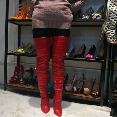 Sexy Women's Stilettos Heel Pointy Toe Over Knee Thigh High Boots Party Shoes SZ