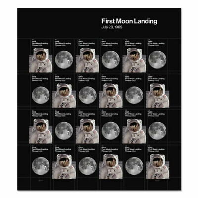 US 1969 First Moon Landing Pane of 24 FOREVER stamps