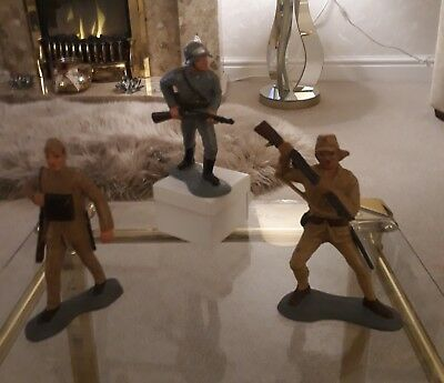 British, German and Japanese Second World War Soldiers Very Rare Collectables.