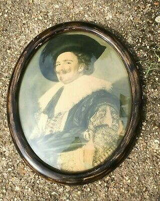 Large Bubble Glass Lithograph of the Laughing Cavalier - Very Rare