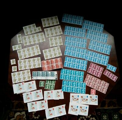 A Large Collection of Unused Stamps / 1st Class / 2nd Class / 1p / 2p / 5p / 25p