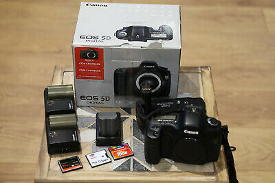 Canon EOS 5D 12.8MP Digital SLR Camera - Body only with extras