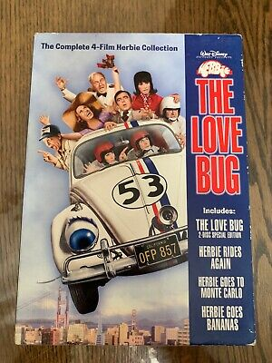 The Love Bug~The Complete 4-Film Herbie Collection Disney 5 Disc Dvd Set