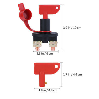 Battery Isolator Disconnect Cut OFF Power Kill Switch for Marine Car RV Boat