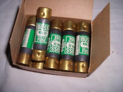 New box of 10 Non-60 One Time Buss Fuses