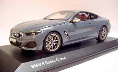 1 18 Norev 2019 Bmw 8 Series Coupe Barcelona Blue Met Rare Dealer Promo