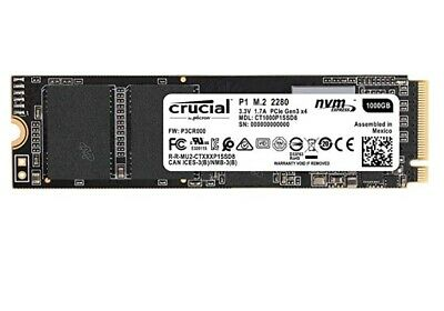 Crucial P1 1TB 3D NAND NVMe PCIe M.2 SSD - CT1000P1SSD8 New!