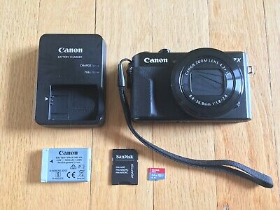 Canon PowerShot G7 X Mark II Camera + SanDisk 64GB Ultra Card - Great Condition