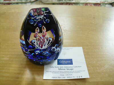"""Ltd Ed Caithness """"Mirror Image"""" Paperweight Colin Terris(228/350) - <4"""""""