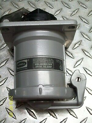 Hubbell HBL460RS2WR 3P4W 60 AMP PIN AND SLEEVE Receptacle