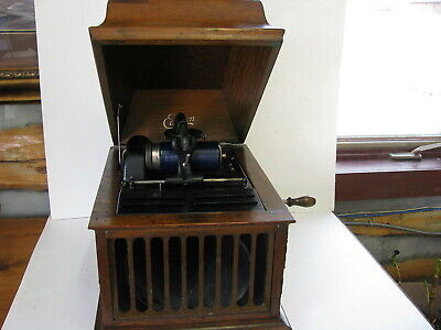 Vntg Edison Amberola #30 phonograph (record player) in good working order