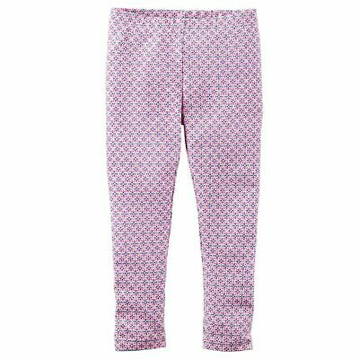 NWT Carters Girls Pink Blue Silver Glitter Geo Print Everyday Leggings 6
